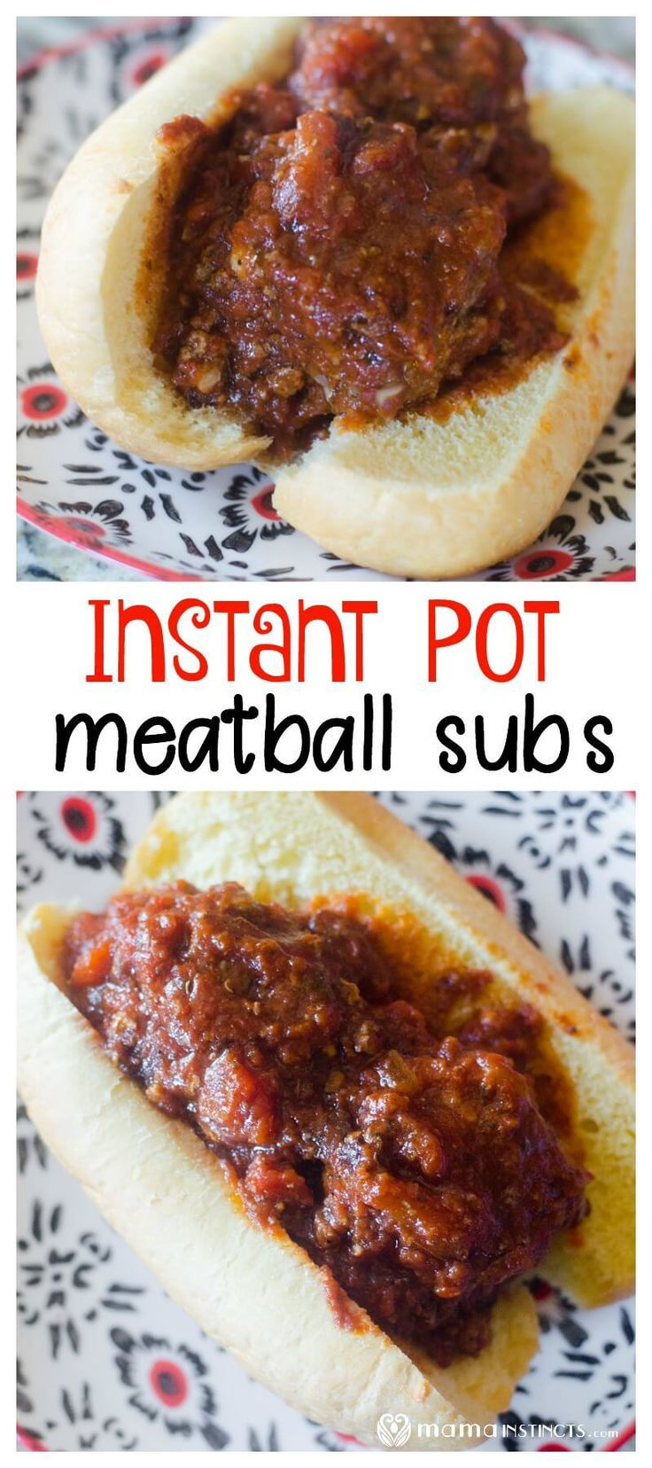 Make the tastiest and most perfect meatballs in your Instant Pot! This recipes is great for meatballs subs as well as spaghetti with meatballs. #mamaIP #instantpot #instantpotrecipes #easyrecipes #MamaInstinctsBlog