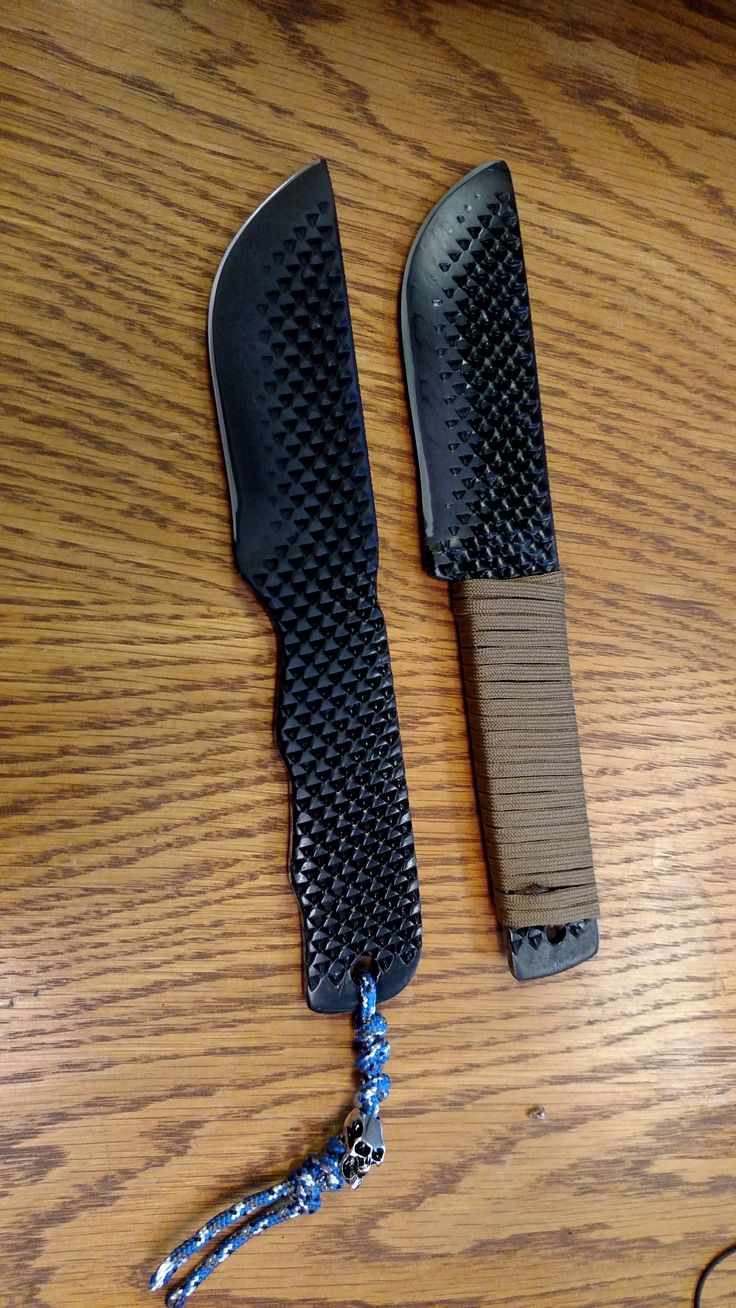 2 knives I made from a 2 pound, 18 inch rasp/file
