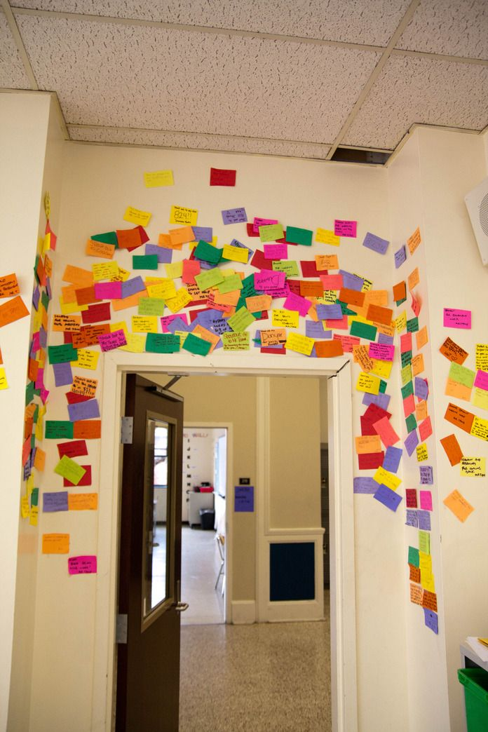 """Shout Out Wall"" where students can shout out their success in class or at school."