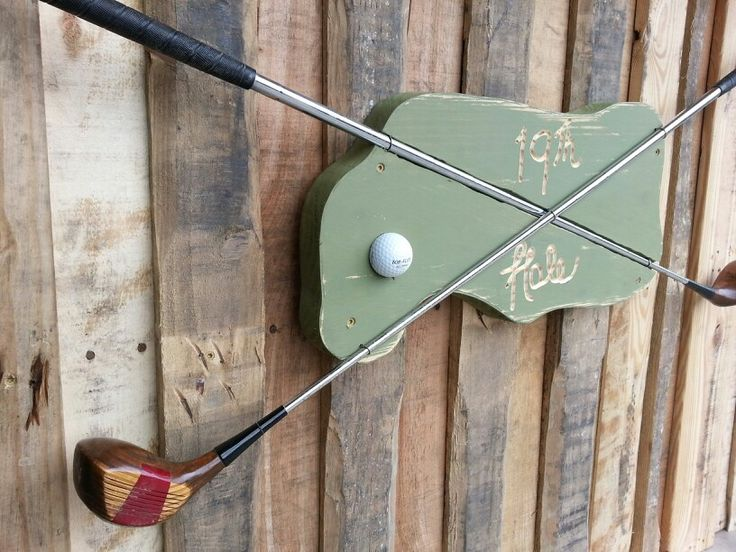 Upcycled Golf Clubs 19thhole Sign Reduce Reuse