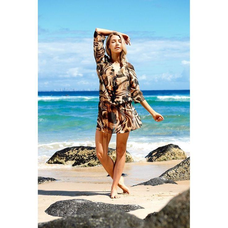 Short Animal Print Beach Dress
