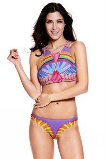 Bikini Top a Triangolo<BR>Multicolore