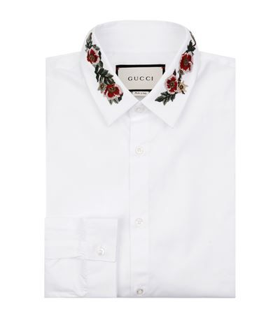 GUCCI Embroidered Collar Shirt. #gucci #cloth #