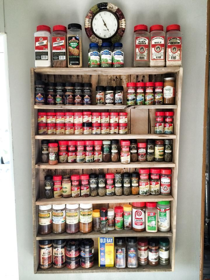 Spices have a tendency to accumulate in weird places if you don't have a big enough space. And sometimes you take more time looking for spices or just giving up to buy more... So I made an easy to see and organize spice rack out of pallets.