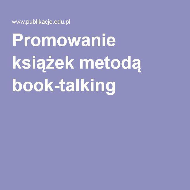 Promowanie książek metodą book-talking