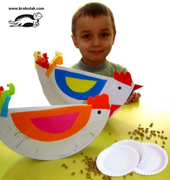 Paper Plate Chickens...no actual tutorial on site, but the picture is pretty self explanatory.