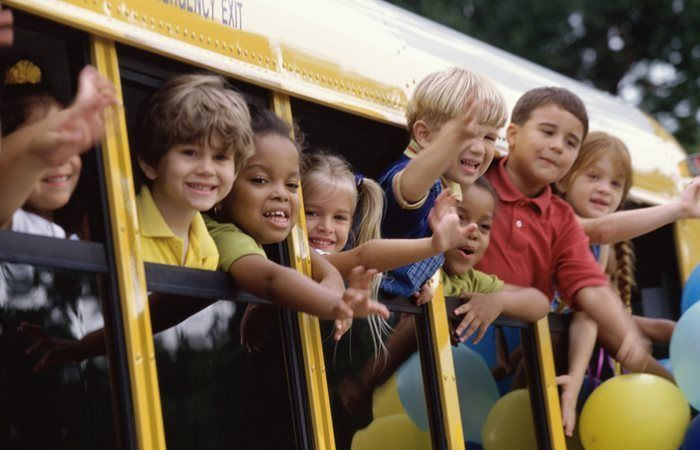 School bus drivers keep the safety of your kids in mind as Kids in mind