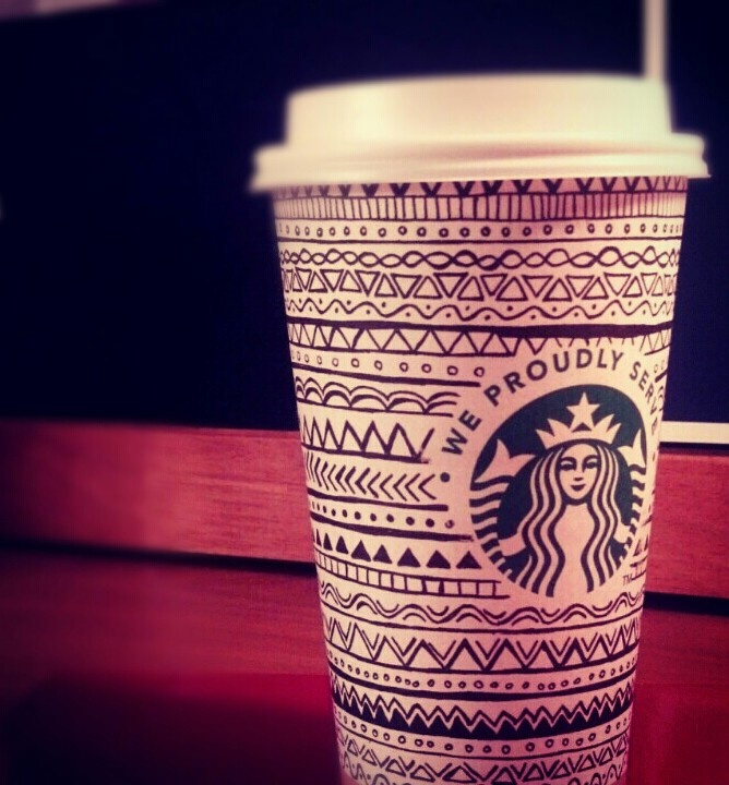 Starbucks coffee cup doodle <3