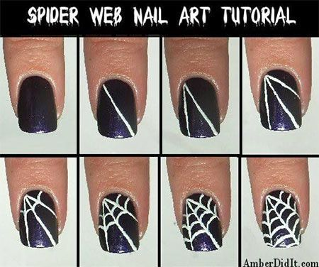 awesome Easy Spiderman Nail Art Tutorials For Beginners & Learners 2014
