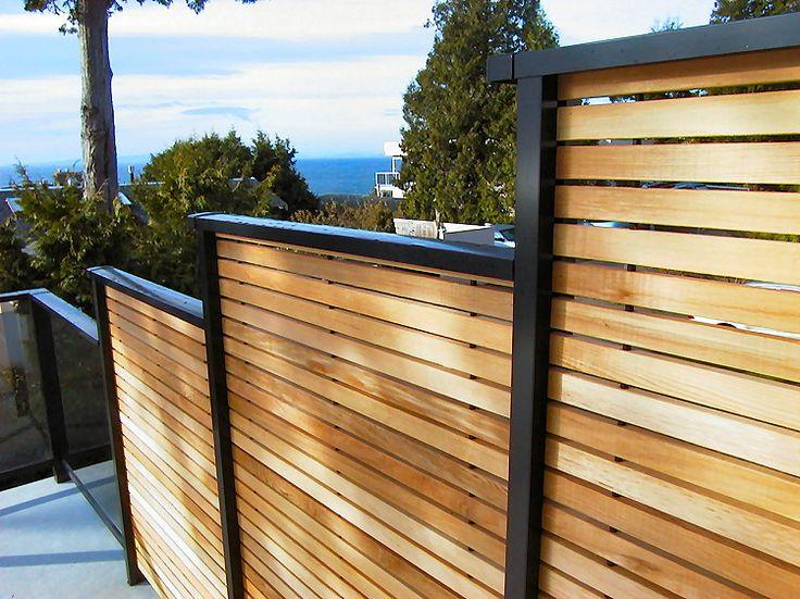 Privacy Deck Railing Visit more Deck Railing Ideas http://awoodrailing.com/2014/11/16/100s-of-deck-railing-ideas-designs/