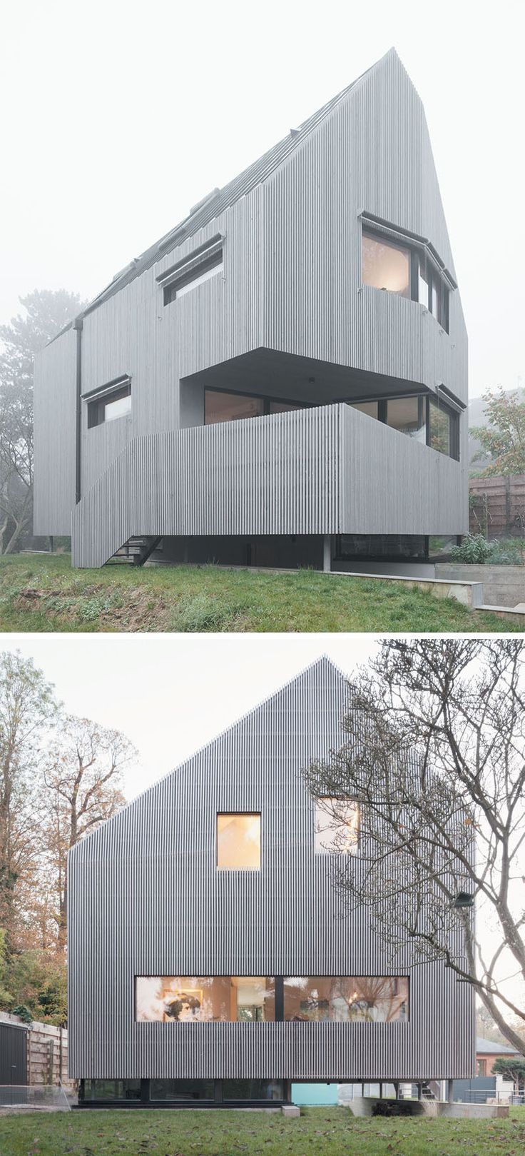 best images about architecture museums le an angular exterior surrounds the mini st interior of this house in helphouse appeararchitecture
