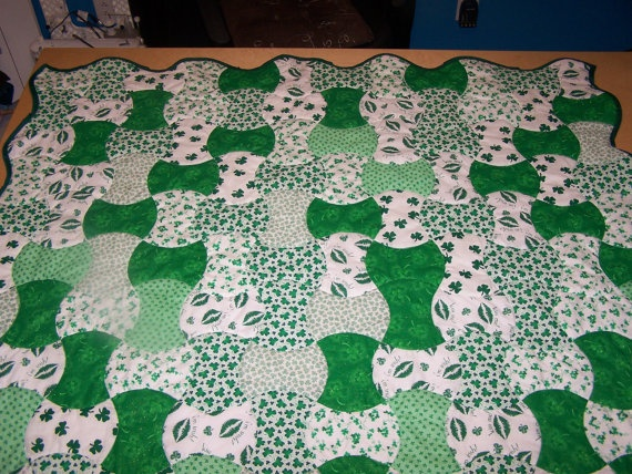 Shamrock Apple Core Quilt by AppleCoreQuilts on Etsy, $75.00