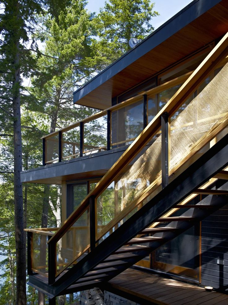 Altius Architecture Inc : Lake Joseph Cottage - exterior stair. www.altius.net