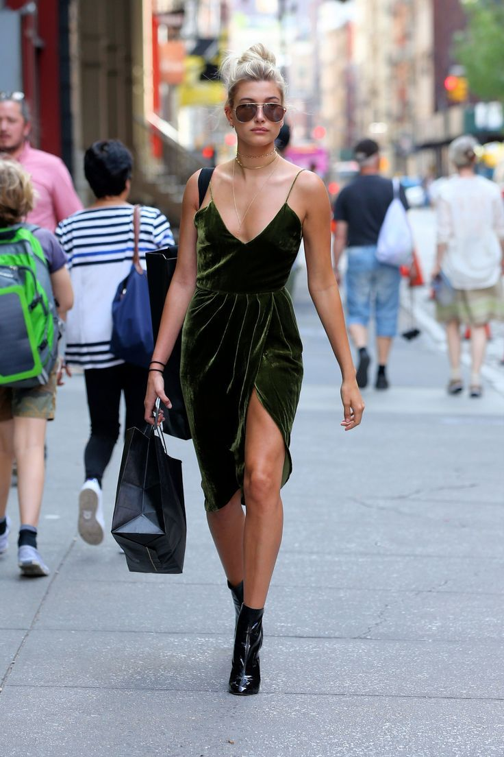 Hailey Baldwin Shows the Perfect Way to Wear Velvet in the Summer | Teen Vogue