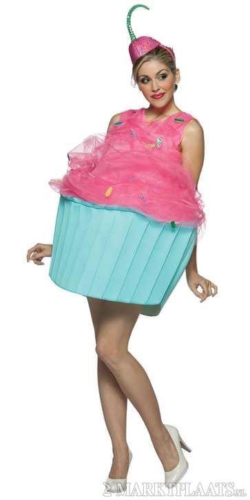 Marktplaats.nl > Cupcake jurkje met kersenhoedje! - Kleding   Dames - Carnavalskleding en Feestkleding