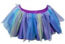 Tiny bells on this pixie skirt will ensure you hear your little pixie playing in the garden.  The multi-coloured skirt with elasticised waistband is made from neat layers of netting with sparkle detail to achieve a real pixie look!  Finish the look with the matching Sparkling Pixie Top in Lilac