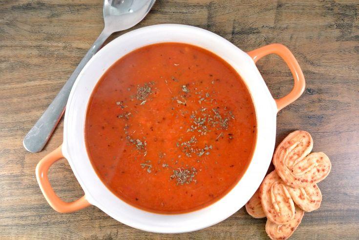 Soep van geroosterde paprika - Lekker en Simpel