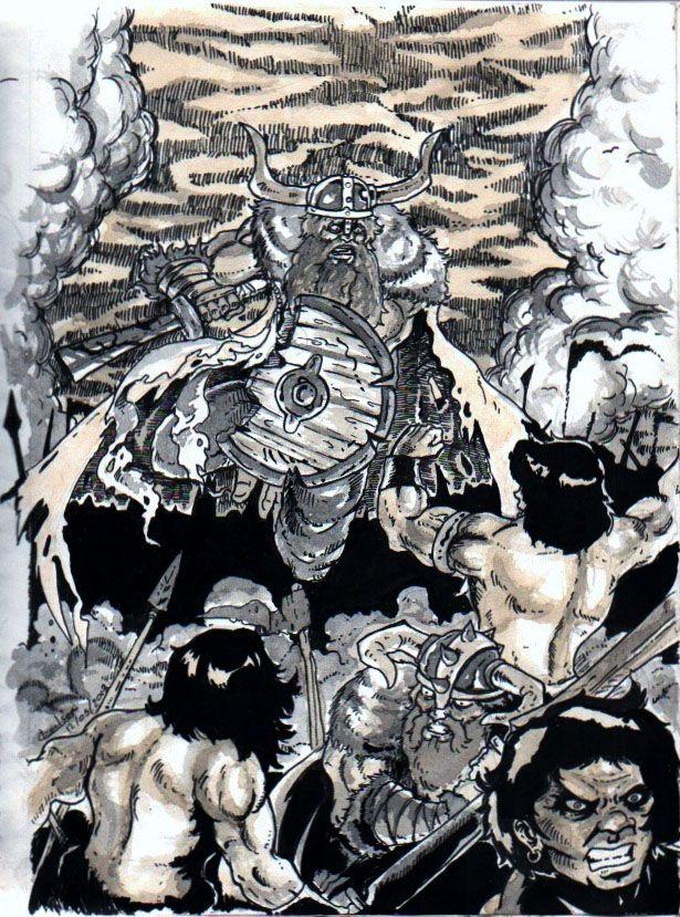 Guerra dos bárbaros. http://gleison-artilustracao.blogspot.com.br/2014/06/ilustracao-08.html