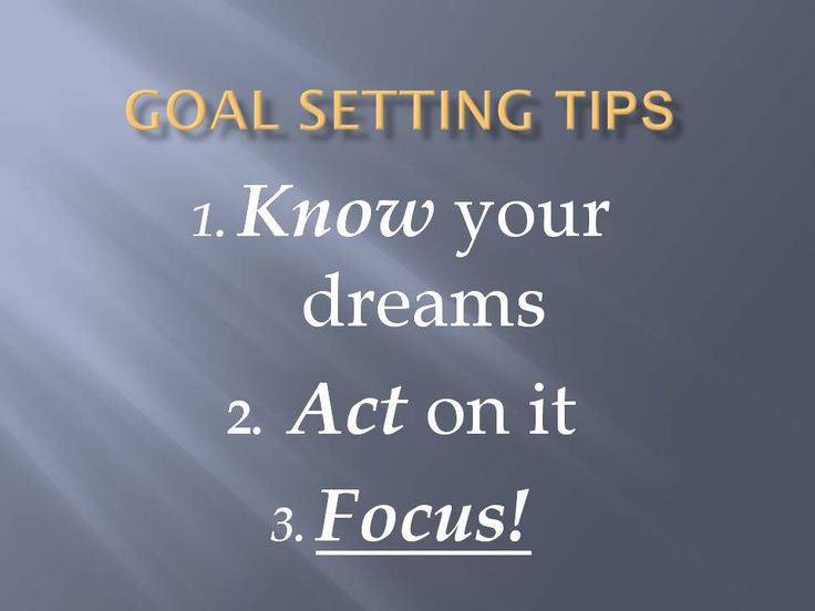 10 best goal objective setting images on pinterest goal goal setting tips know your dreams act on it fandeluxe Images