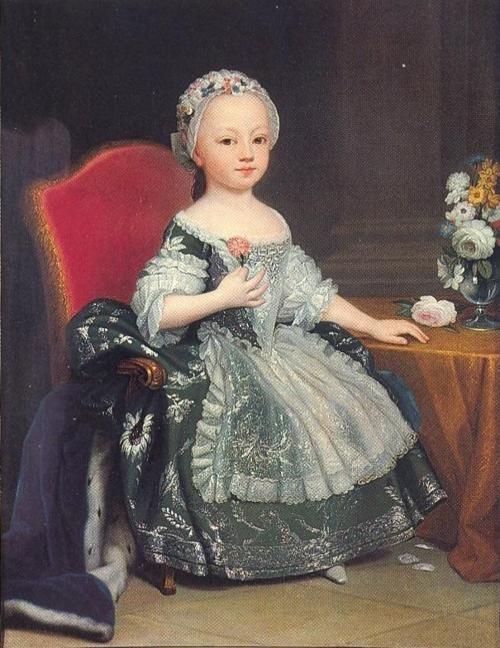A portrait of Maria-Teresa of Savoy, the future comtesse d'Artois in 1760    Giuseppe Duprà