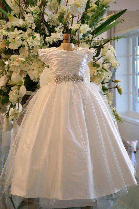 Christening Dress ~ Baptism Dress ~ Flower Girl Dress ~ Dedication Dress ~ www.CouturesbyLaura.etsy.com