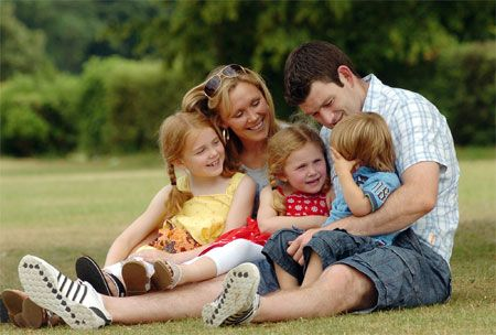 Michael Owen with his family