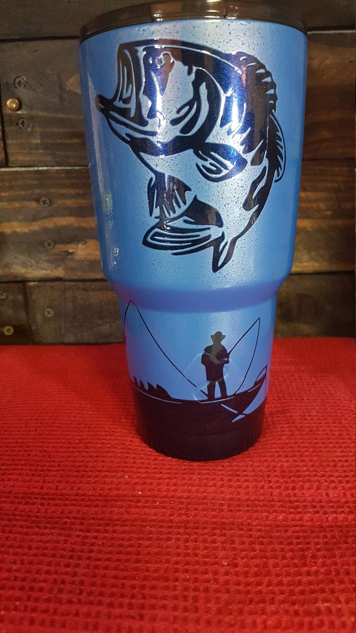 Yeti Hogg Powder Coated Bass Fishing Tumbler No Paint