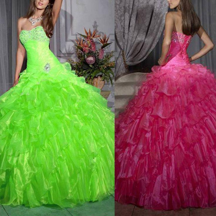 Ну вечеринку платье свадебные платья quinceanera vestido дебютантка пункт 15 anos курто пышное платье бальные платья розовый органзы рюшами
