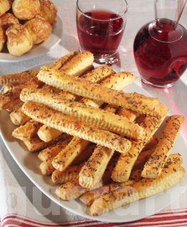 Lajos Mari konyhája - Köményes sós stangli - élesztővel