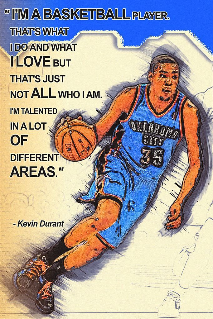Kevin Durant Quotes NBA Basketball Sayings Poster