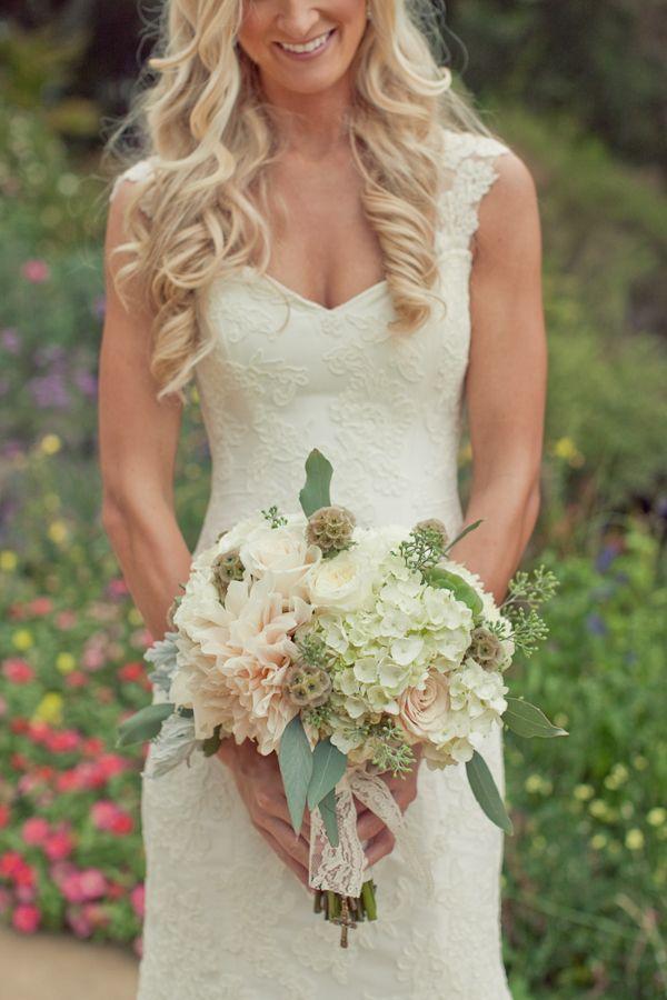 country wedding dress front closeup