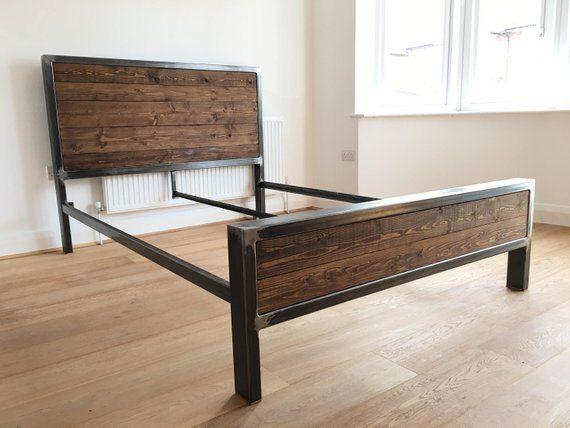 Steel Bed Frame Etsy Bed Frame Design Steel Bed Frame Steel Bed