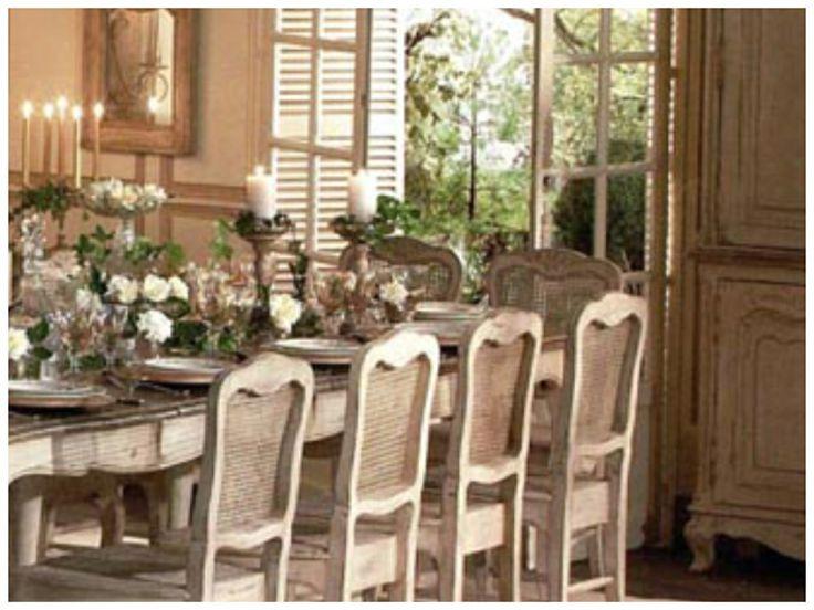 Τραπεζαρια Chateau της Γαλλικης εταιρειας Country Corner απο το Woodhouse www.woodhouseshop.gr