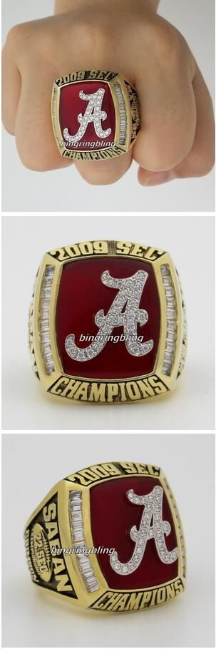 #roll tide,#tide nation,alabama 2009 SEC Champions Ring,#alabama ,college football game ,game day,gift to him ,wedding gift-#men's ring.