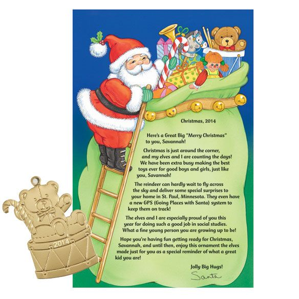 The 25+ best Personalized letters from santa ideas on Pinterest