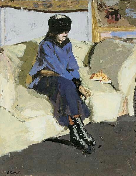 Femme au corsage bleu, Edouard Vuillard 1915 Post-impressionism