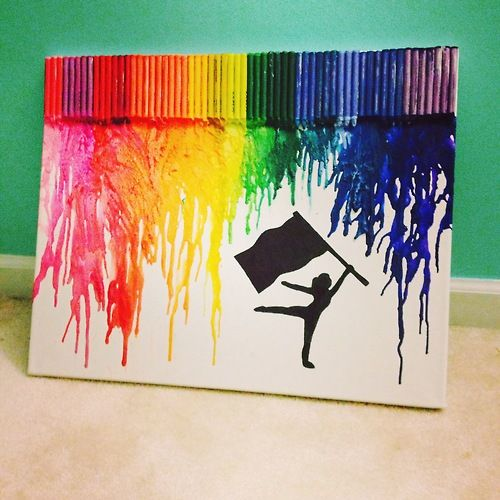 Color guard crayon art  GAH I AM GOING TO DO THIS THIS WEEK!!!