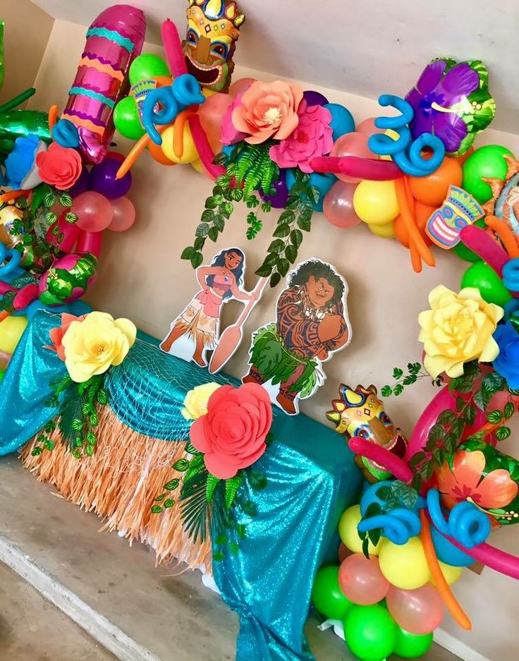 89 best images about moana birthday party on pinterest for Arch decoration supplies