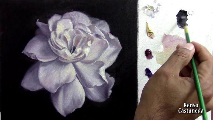 Como pintar una Rosa con óleo