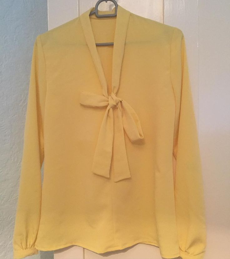 Lovely yellow Pussy Bow Blouse, pattern by Sew Over It