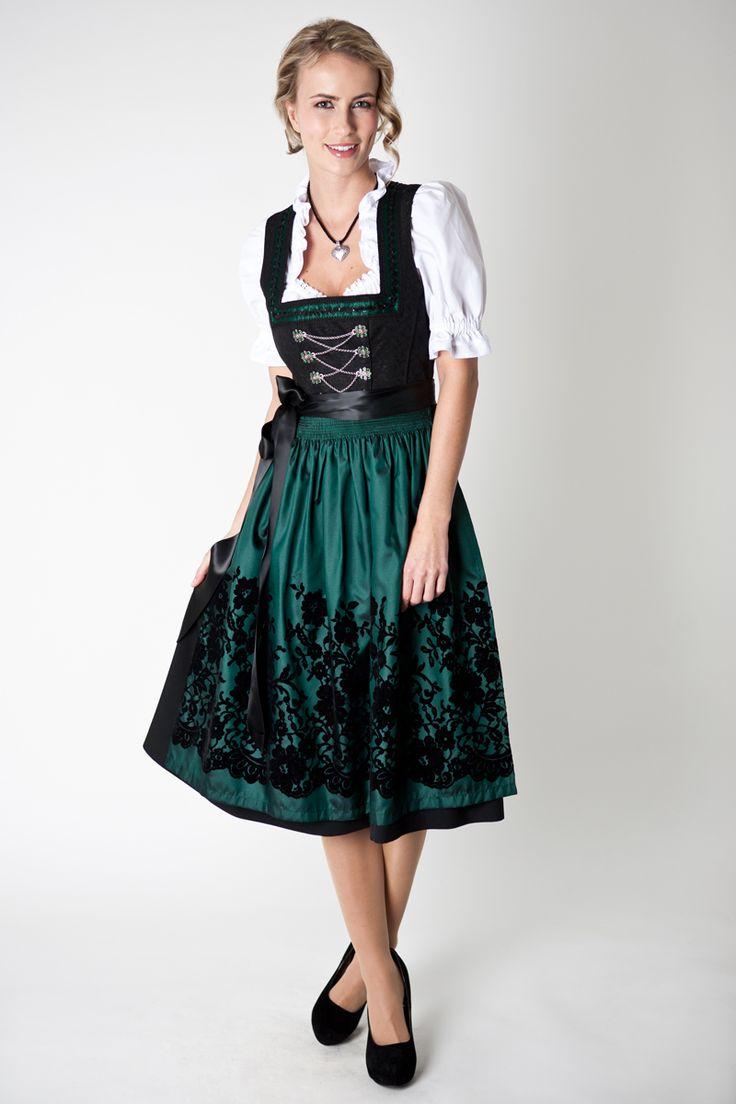 Dirndl Johanna, black green. Beautiful generation to ...