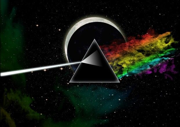 Pink floyd, dark side of the moon. #digitalart #psychedelic #band