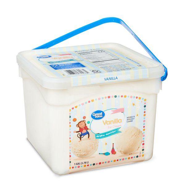 Great Value Vanilla Ice Cream 1 Gallon Pail Walmart Com In 2020 Vanilla Ice Cream Ice Cream Homemade Milkshake