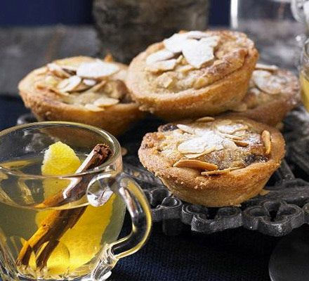Two festive giants collide in these shortcrust pastry bakes with marzipan, Madeira cake and mincemeat
