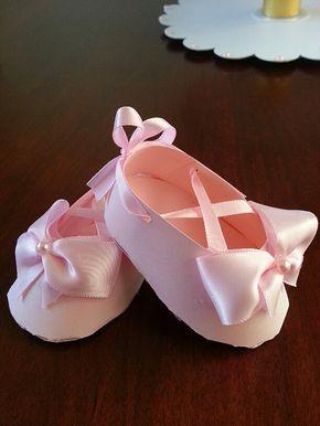 Set Of Ten Pink Ballerina Shoe Favors / Ballet Shoe Favors /Ballerina Baby Shower / Ballerina Favors