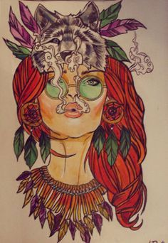 Hippie tattoo love