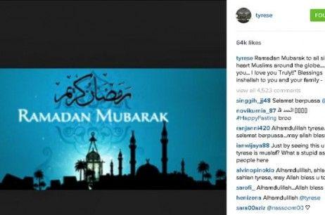 Tyrese Gibson Ungkap Kegembirannya Menyambut Ramadan