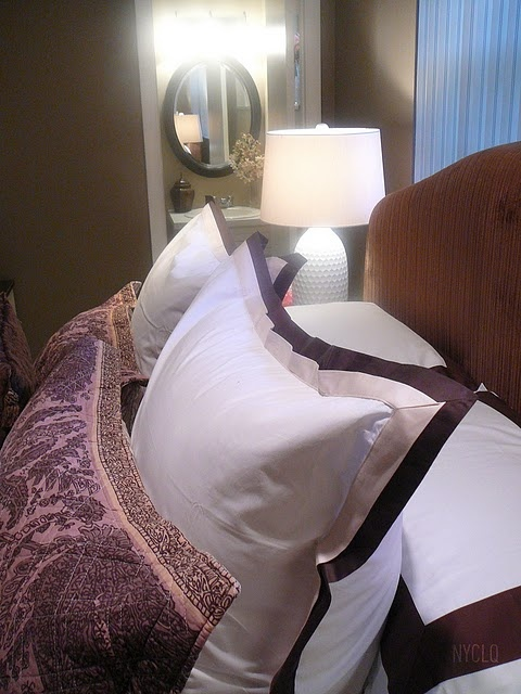 do it yourself headboard similar to pottery barn, eggplant upholstery - from bedroom reno @nyclq-FocalPoint