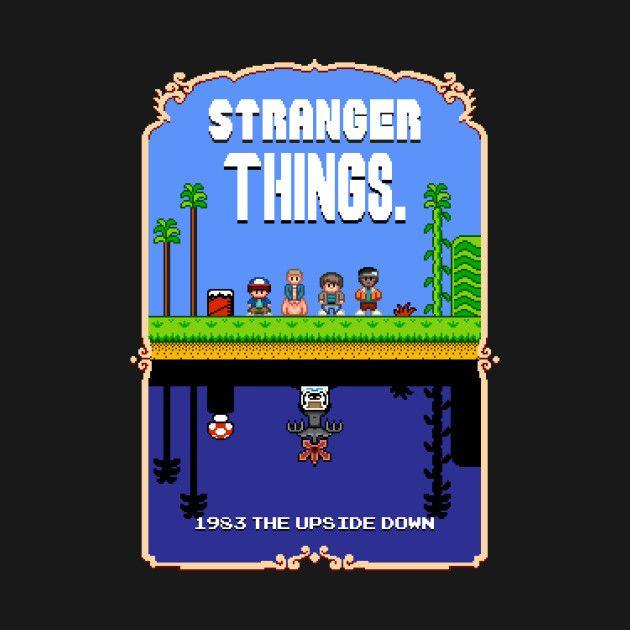Stranger Things Mario Bros 2 Pixel Art Mashup Stranger