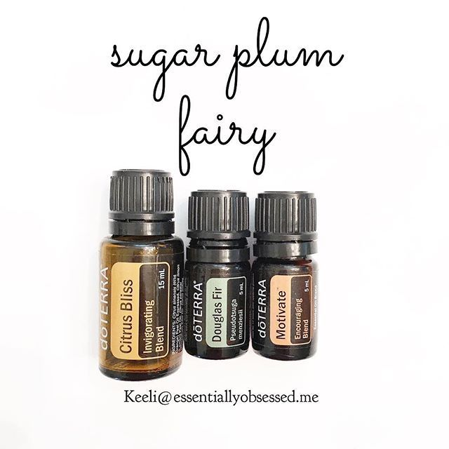 Three drops of Citrus Bliss, two drops of Douglas Fir and one drop Motivation